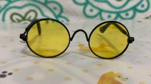 ダイソーで買った伊達メガネの正面写真