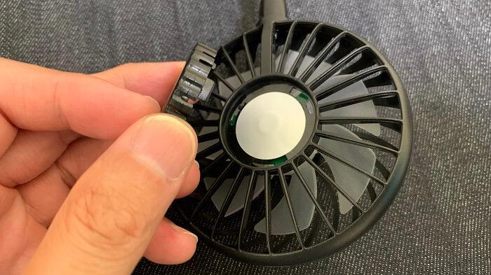 フタをあけられるNeck Twin Fan!