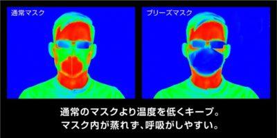 ブリーズマスクと通常のマスクの温度の差