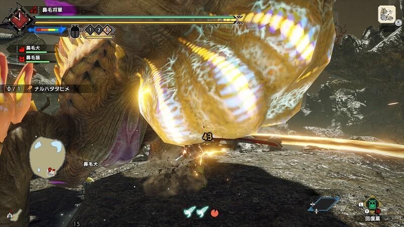 雷神龍ナルハタタヒメはお腹が狙い目