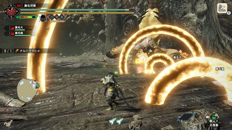 雷神龍ナルハタタヒメの攻撃は冷静に避けよう