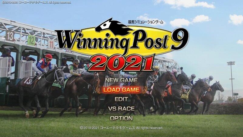 【ウイニングポスト9 2021】体験版からのセーブデータの引継ぎは『LOAD GAME』を選択