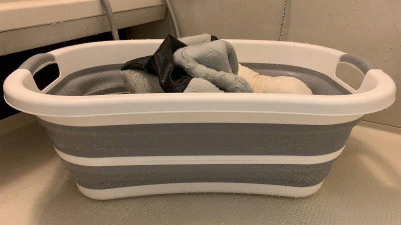 犬・猫のペット用品の洗濯に!折りたたみたらい&バケツがおすすめ!