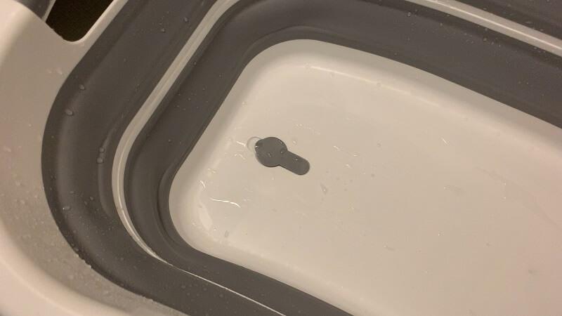 折りたたみたらいは洗濯後の水抜きも楽