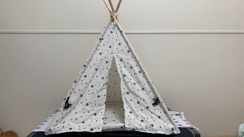 ダイソーのペット用テント ☆柄が素敵!