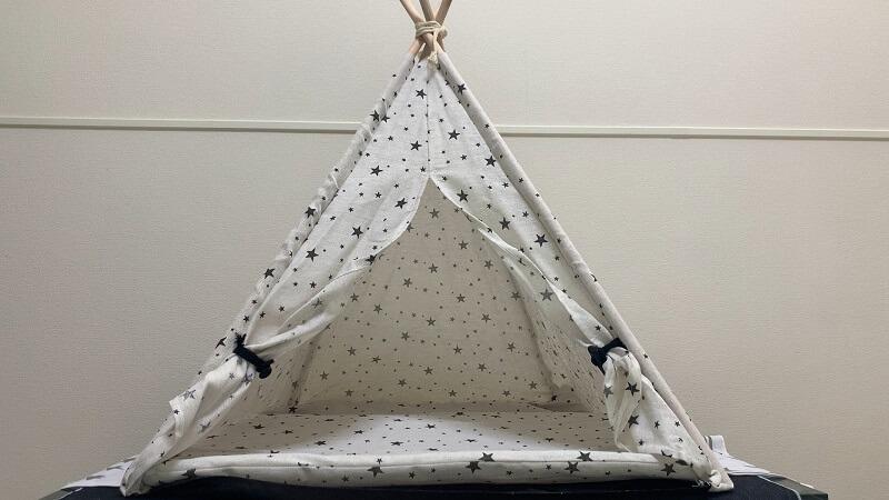 ダイソーのペット用テントの完成図