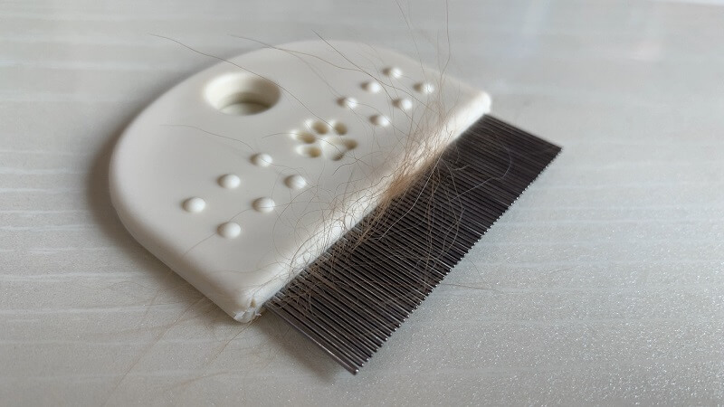 ノミ取りコームの使い方|不要な抜け毛は事前に処理する
